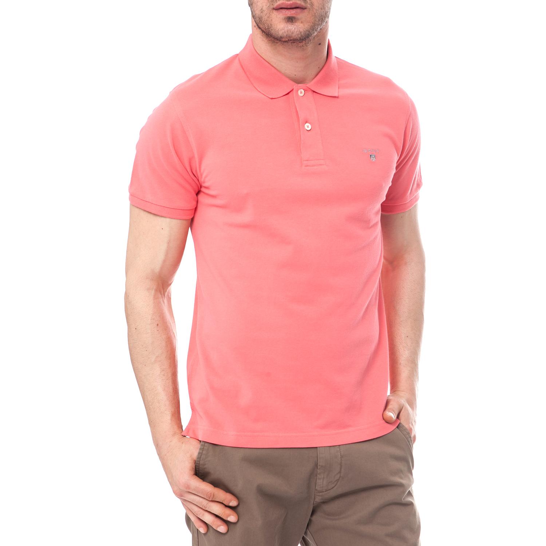 574f5bad1729 GANT - Ανδρική μπλούζα Gant ροζ-σομών
