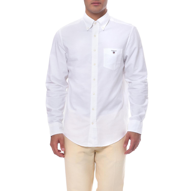 29a91c66cc9d GANT - Ανδρικό πουκάμισο Gant λευκό