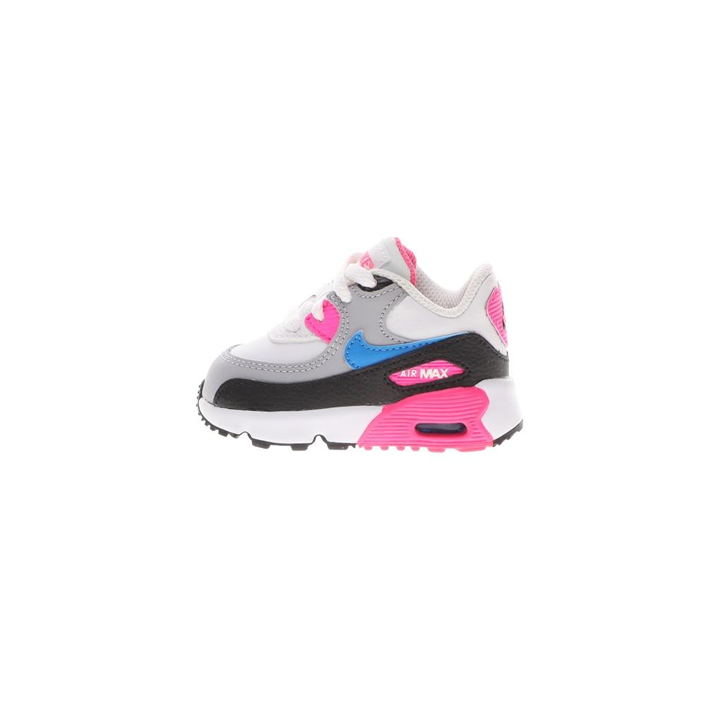 NIKE – Παιδικά αθλητικά παπούτσια NIKE AIR MAX 90 LTR (TD) λευκά γκρι