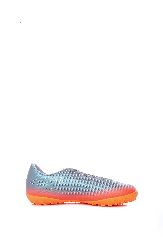 NIKE – Παιδικά ποδοσφαιρικά παπούτσια Nike JR MERCURIALX VICTRY 6 CR7 TF γκρι-πορτοκαλί