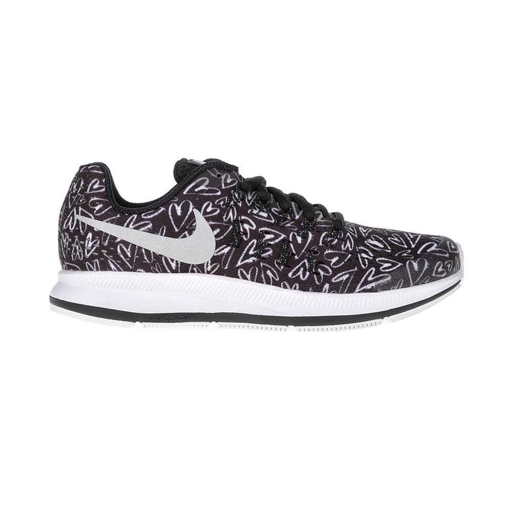 NIKE – Παιδικά αθλητικά παπούτσια NIKE ZOOM PEGASUS 33 PRINT GS ασπόμαυρα