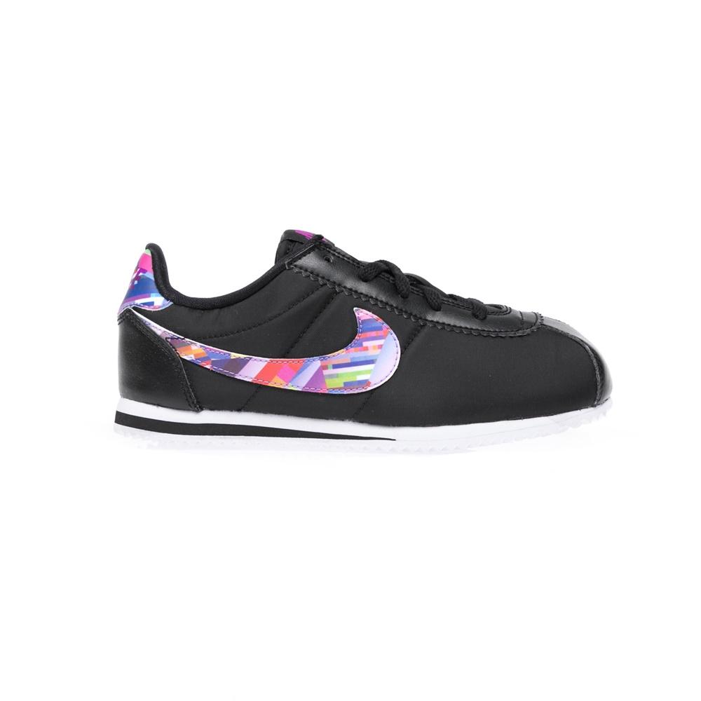NIKE – Παιδικά παπούτσια NIKE CORTEZ NYLON PRINT (PS) μαύρα
