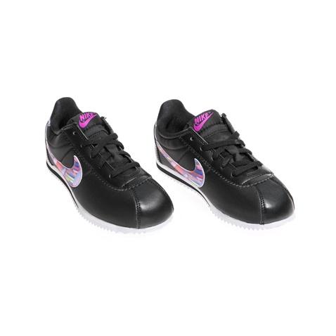 NIKE-Παιδικά παπούτσια NIKE CORTEZ NYLON PRINT (PS) μαύρα
