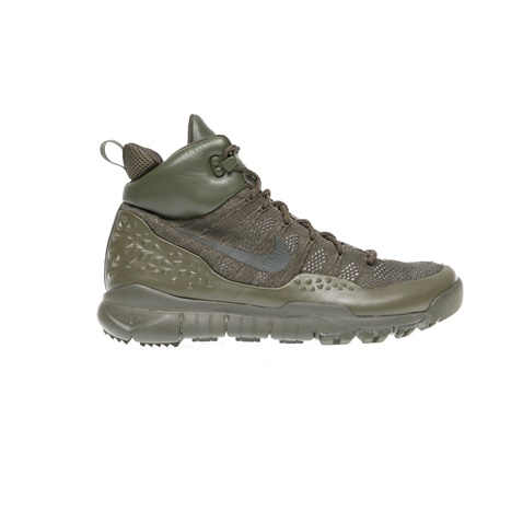 NIKE-Αντρικά αθλητικά παπούτσια NIKE LUPINEK FLYKNIT χακί