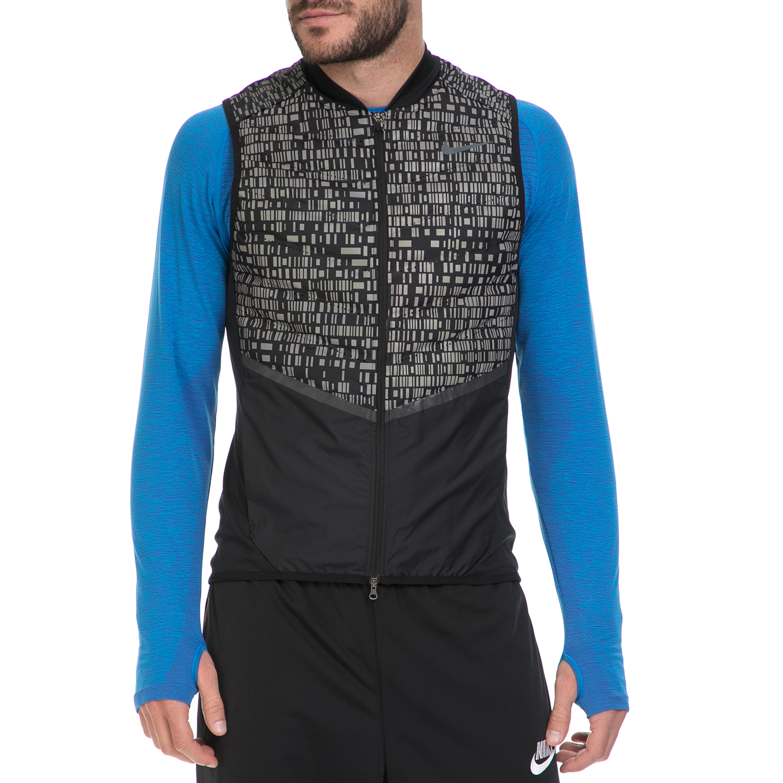 NIKE - Ανδρικό αμάνικο μπουφάν NΙKΕ AΕROLFT μαύρο-γκρι ανδρικά ρούχα πανωφόρια γιλέκα