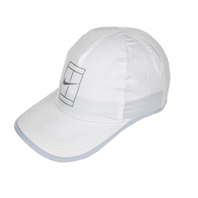 NIKE - Unisex καπέλο Nike AROBILL FTHRLT CAP COURT λευκό γυναικεία αξεσουάρ καπέλα αθλητικά