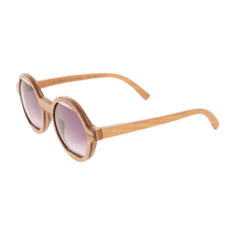 ZYLO - Unisex ξύλινα γυαλιά ηλίου ZYLO GOBY καφέ ροζ