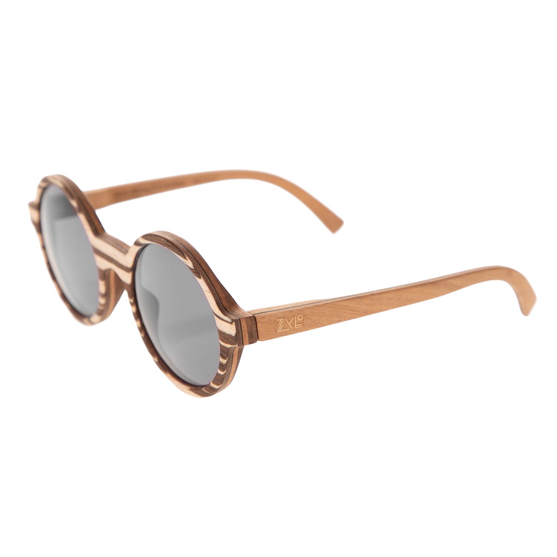 ZYLO - Unisex ξύλινα γυαλιά ηλίου ZYLO OHTO Zebrawood καφέ μπεζ