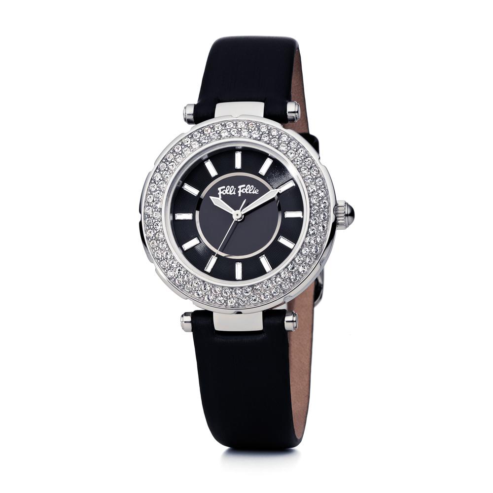 FOLLI FOLLIE - Γυναικείο δερμάτινο ρολόι FOLLI FOLLIE BEAUTI...