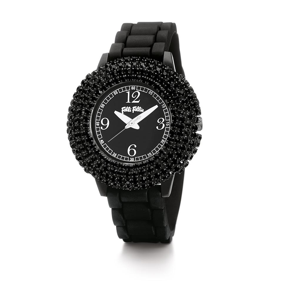 FOLLI FOLLIE - Γυναικείο ρολόι FOLLI FOLLIE TEMPERA μαύρο 3e646c406eb