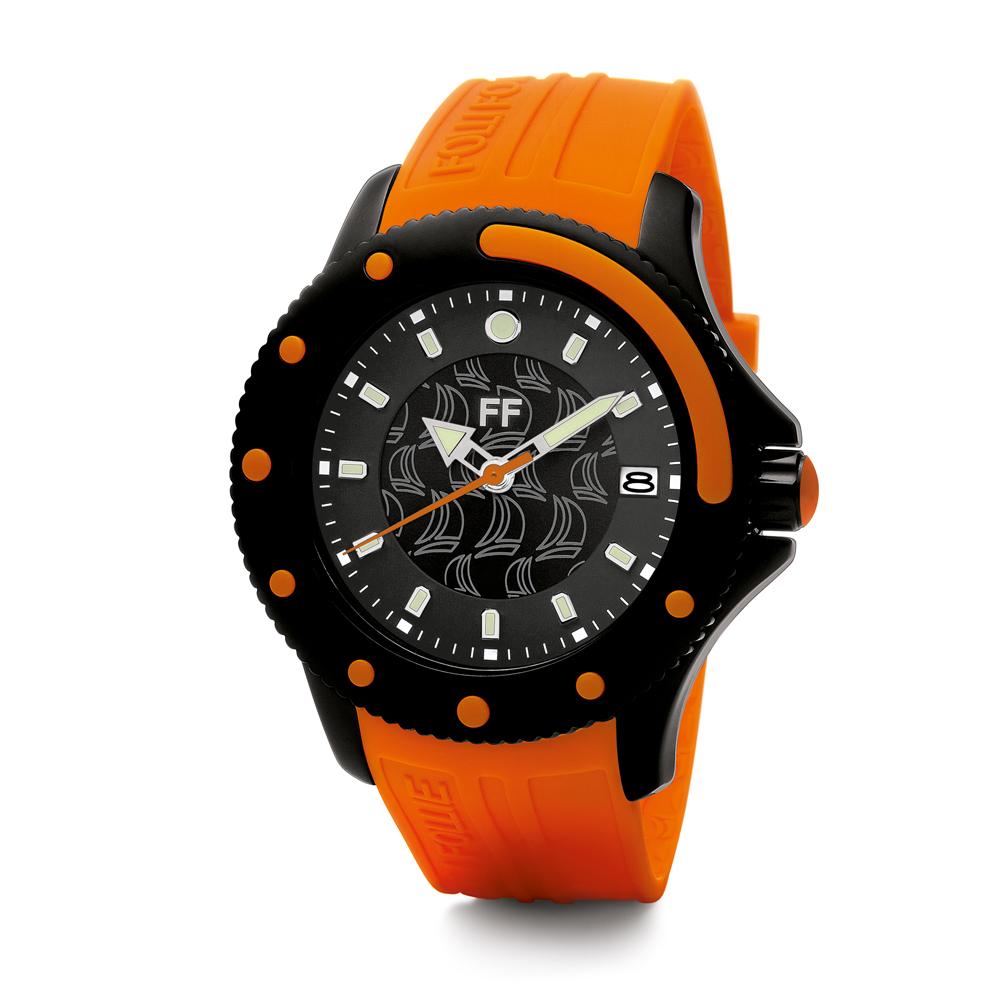 FOLLI FOLLIE - Γυναικείο ρολόι Folli Follie πορτοκαλί γυναικεία αξεσουάρ ρολόγια αθλητικά