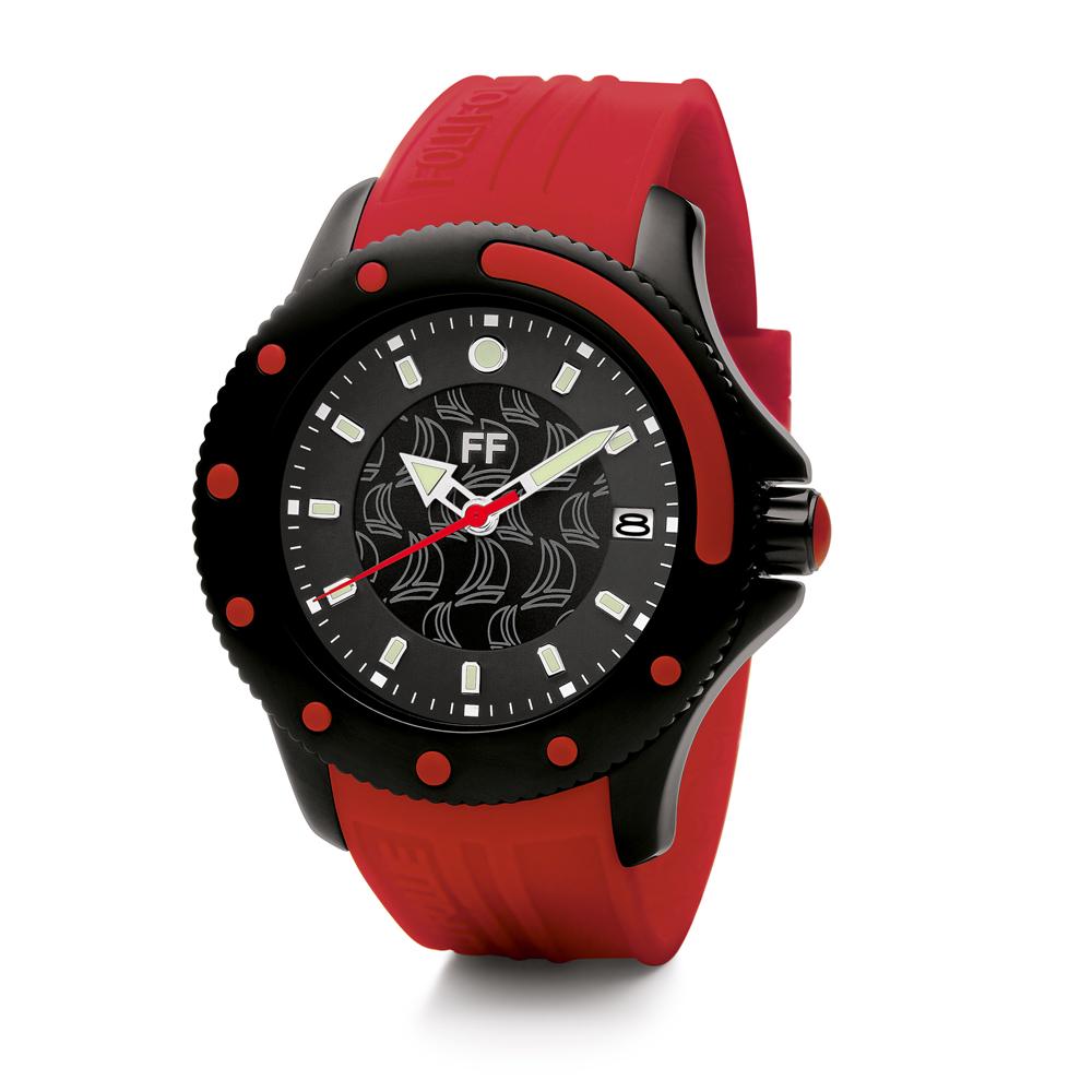 FOLLI FOLLIE - Γυναικείο ρολόι Folli Follie κόκκινο γυναικεία αξεσουάρ ρολόγια αθλητικά