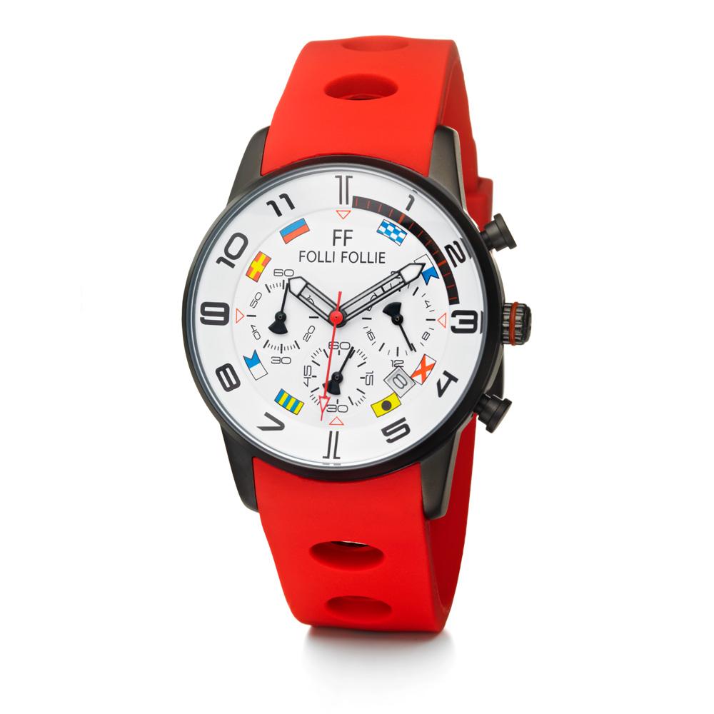 FOLLI FOLLIE - Γυναικείο ρολόι Folli Follie κόκκινο