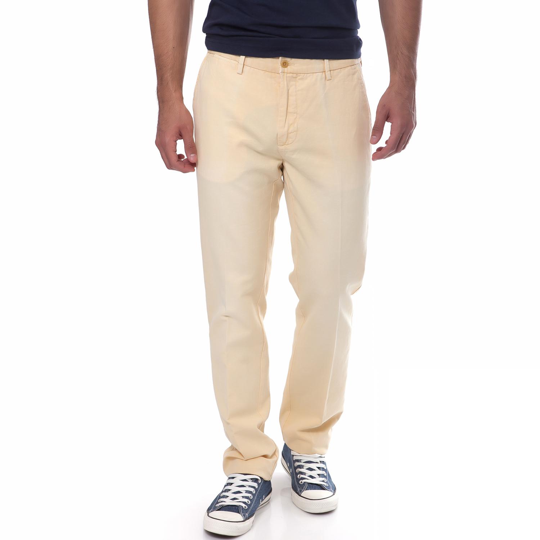 GANT - Ανδρικό παντελόνι Gant κίτρινο ανδρικά ρούχα παντελόνια ισια γραμή