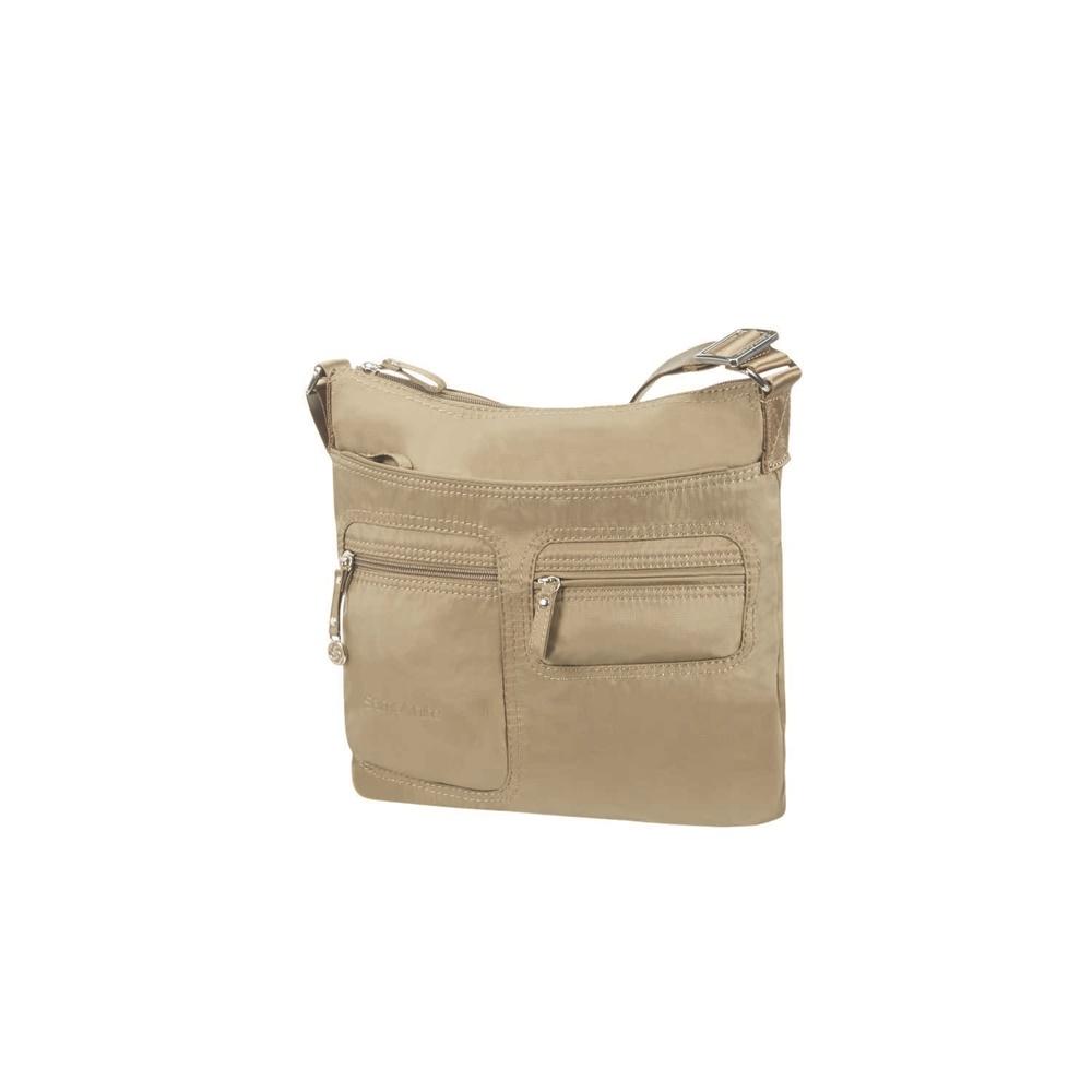 SAMSONITE - Γυναικεία τσάντα ώμου MOVE FLAT SHOULDER BAG IPAD μπεζ γυναικεία αξεσουάρ τσάντες σακίδια ταξιδίου