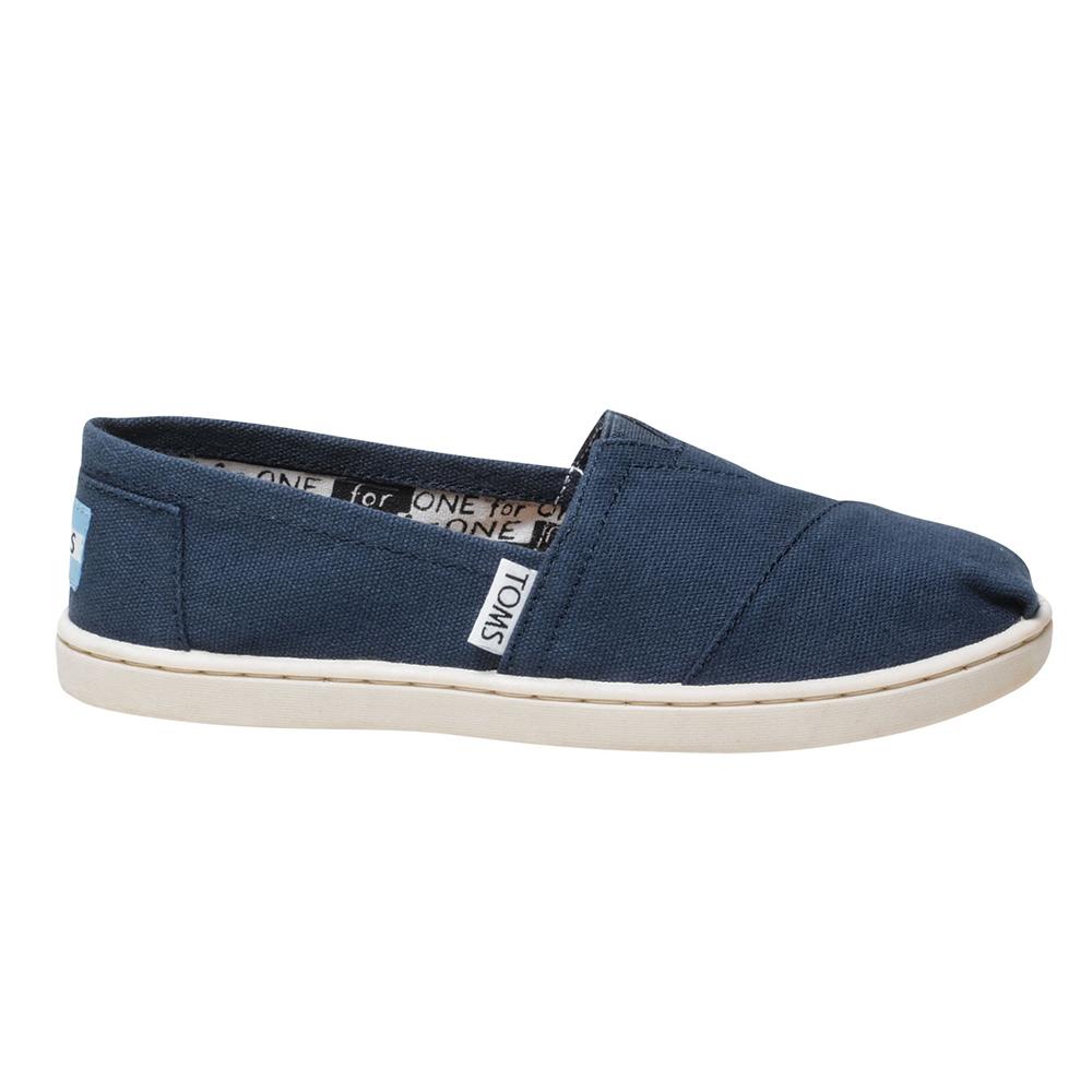 TOMS - Παιδικά slip-ons TOMS ALPARGATA μπλε παιδικά boys παπούτσια εσπαντρίγιες slip on