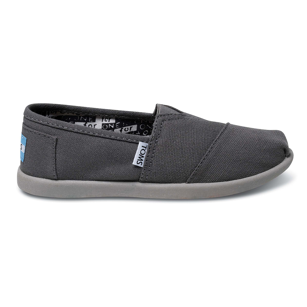 45fa56d6173 -40% Factory Outlet TOMS – Παιδικά slip-ons TOMS ALPARGATA γκρι