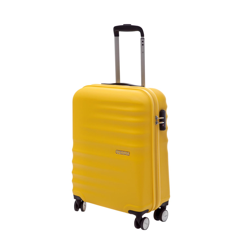 AMERICAN TOURISTER - Βαλίτσα American Tourister WAVEBREAKER SPINNER κίτρινη γυναικεία αξεσουάρ είδη ταξιδίου βαλίτσες καμπίνας