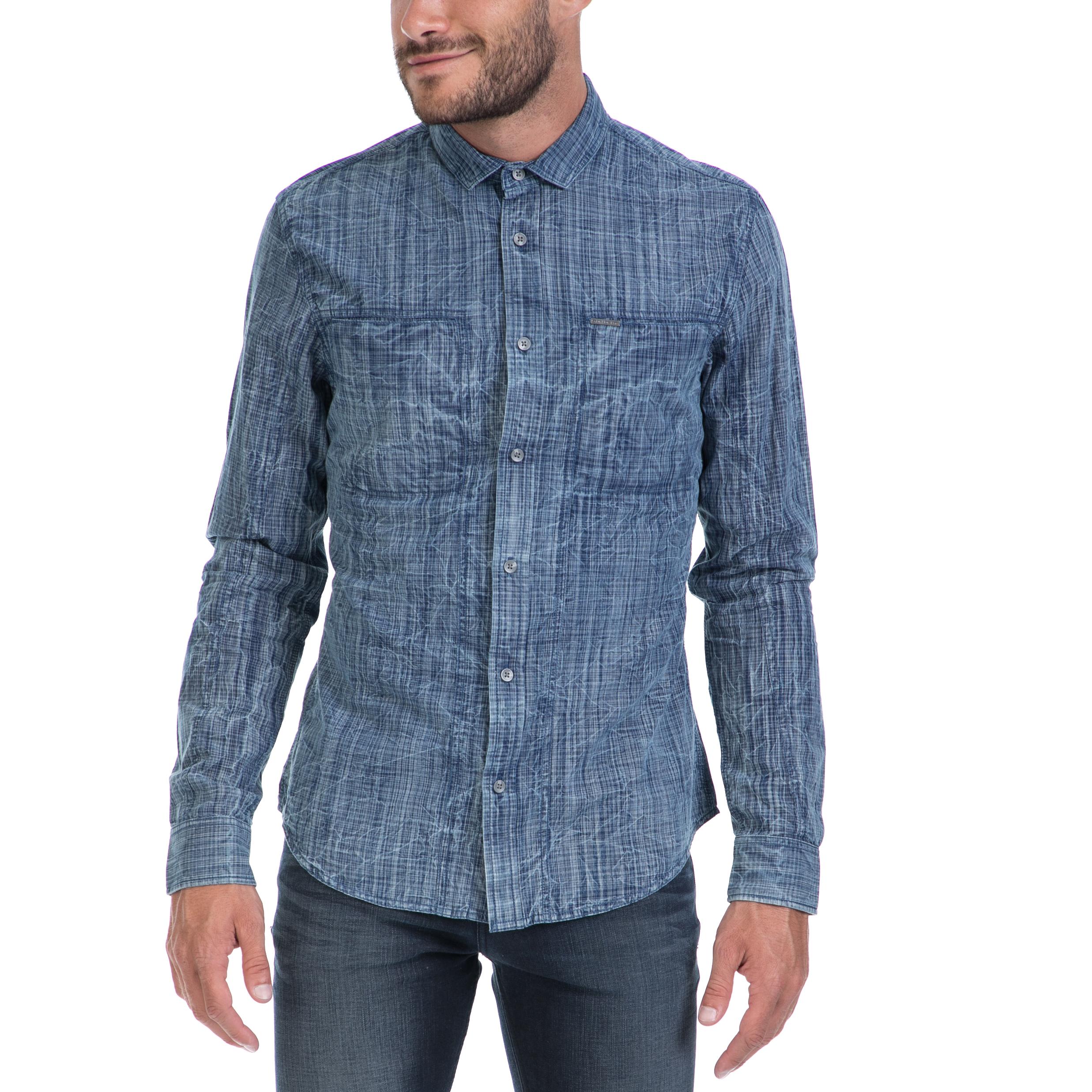 925524459fda CALVIN KLEIN JEANS – Αντρικό πουκάμισο CALVIN KLEIN JEANS μπλε  1502842.0-00J2