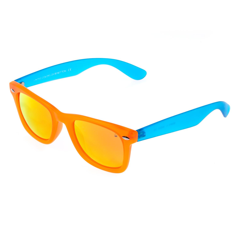 BENETTON - Γυαλιά ηλίου BENETTON πορτοκαλί-μπλε γυναικεία αξεσουάρ γυαλιά ηλίου