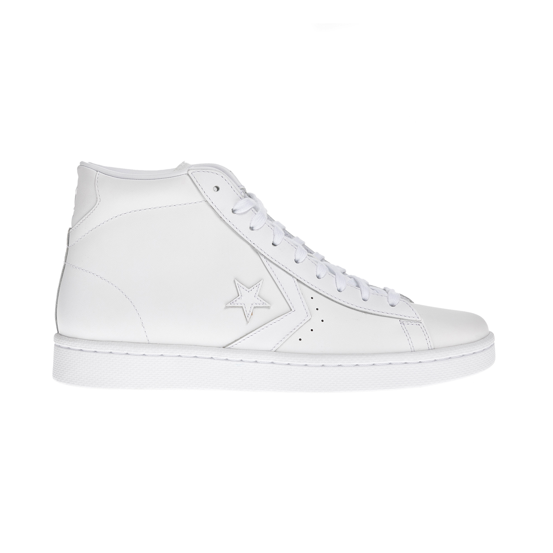CONVERSE – Unisex μποτάκια QS Pro Leather Hi λευκά