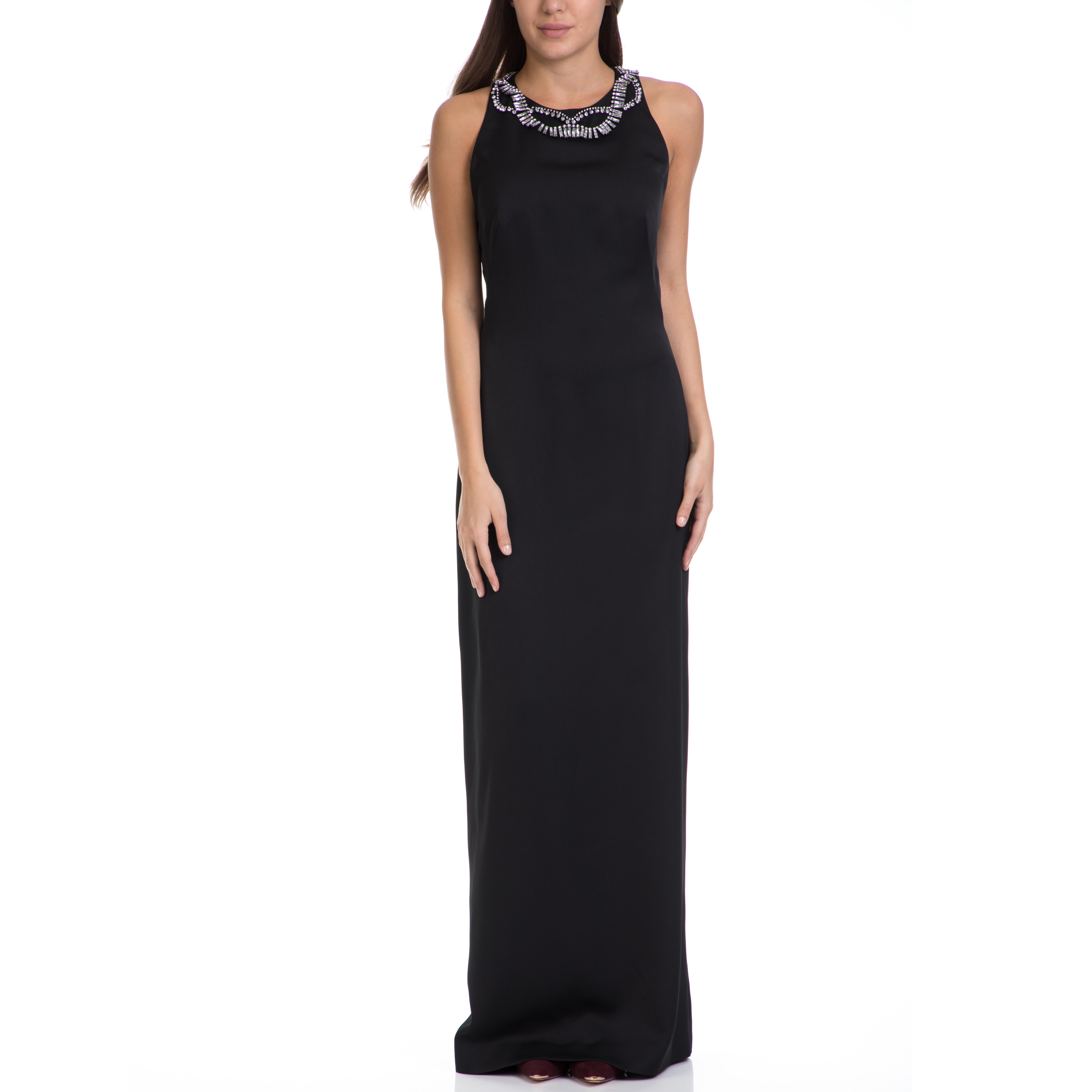 TED BAKER - Γυναικείο μακρύ φόρεμα FERAHH TED BAKER μαύρο γυναικεία ρούχα φορέματα μάξι