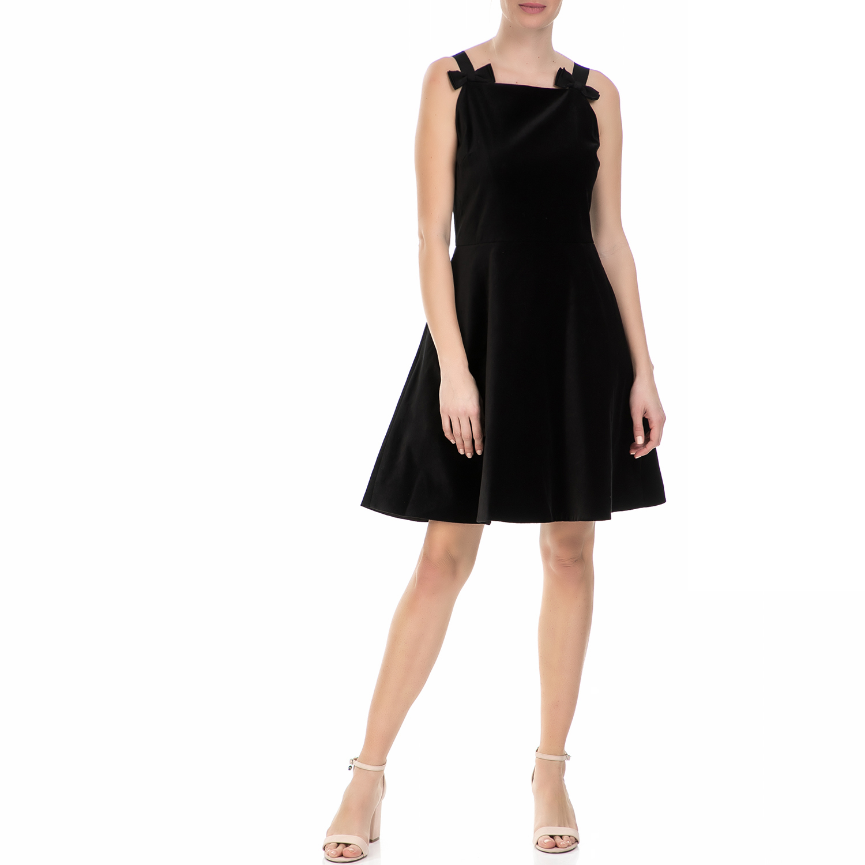 TED BAKER - Midi φόρεμα Ted Baker Louweez bow strap μαύρο γυναικεία ρούχα φορέματα μίνι