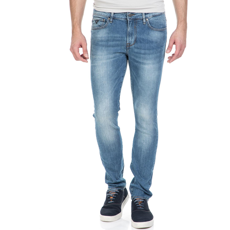GUESS - Ανδρικό τζιν παντελόνι GUESS γαλάζιο ανδρικά ρούχα τζίν skinny