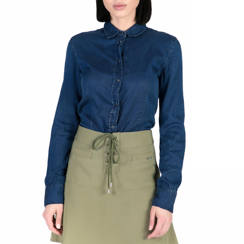 GUESS - Ντένιμ κορμάκι GUESS μπλε γυναικεία ρούχα εσώρουχα κορμάκια