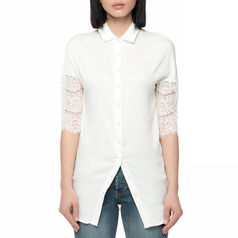 GUESS – Γυναικεία πουκαμίσα με δαντέλα Guess FELIPA λευκή