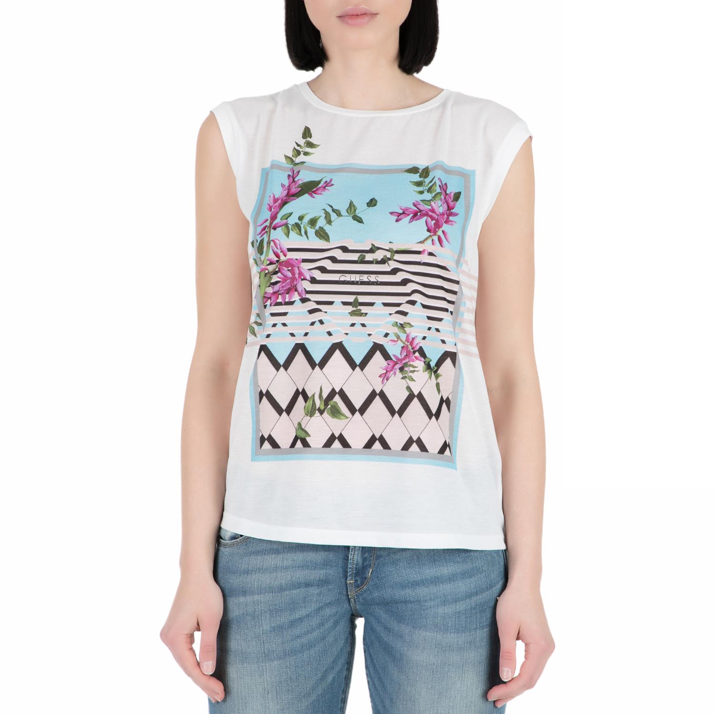 GUESS – Γυναικεία αμάνικη μπλούζα GUESS WISTERIA λευκή