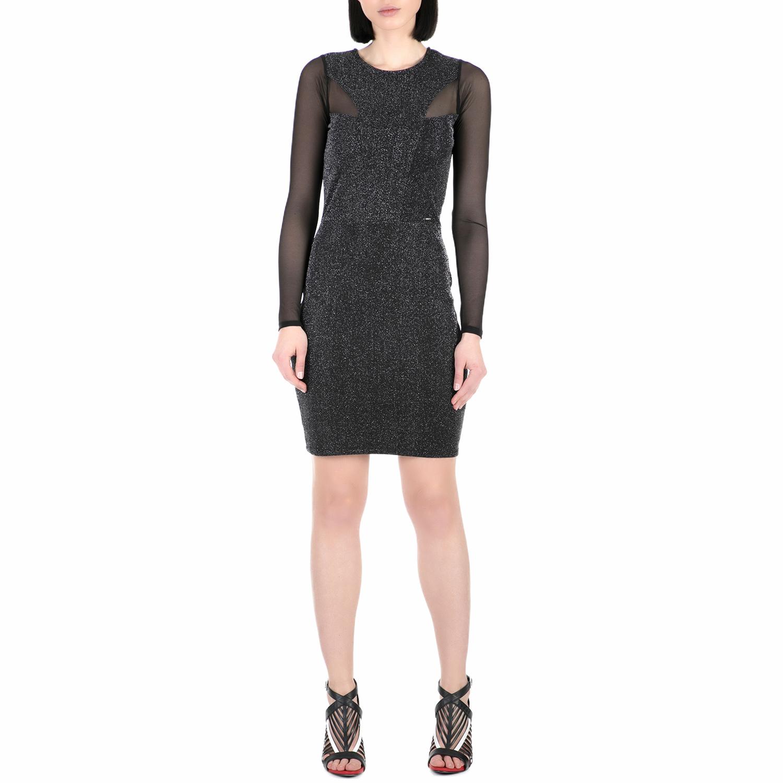 GUESS - Γυναικείο μίνι φόρεμα με στρας Guess MELISSA μαύρο γυναικεία ρούχα φορέματα μίνι