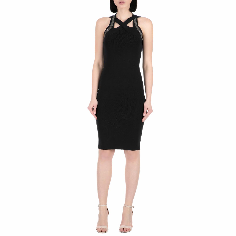 GUESS - Γυναικείο μίνι φόρεμα Guess μαύρο γυναικεία ρούχα φορέματα μίνι