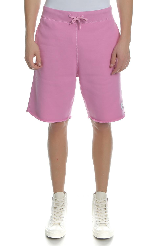 CONVERSE - Ανδρική βερμούδα CONVERSE ESSENTIALS ροζ ανδρικά ρούχα σορτς βερμούδες casual jean