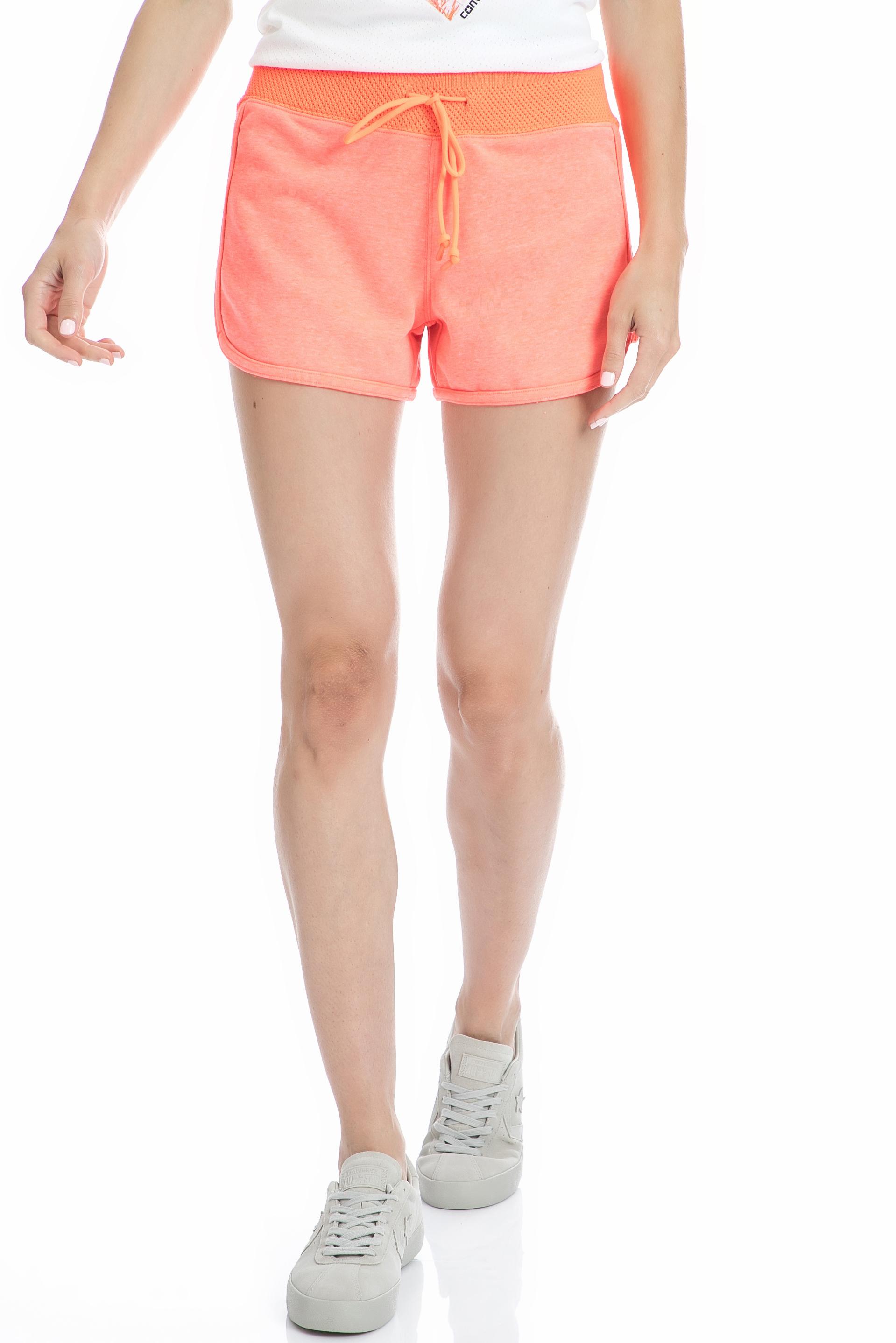 CONVERSE - Γυναικείο σορτς Converse πορτοκαλί γυναικεία ρούχα σορτς βερμούδες αθλητικά