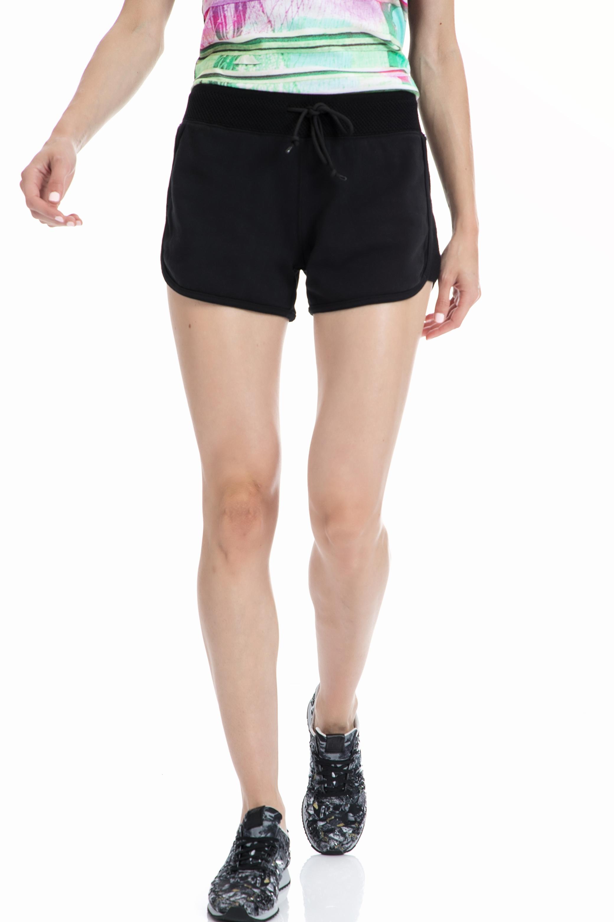 CONVERSE - Γυναικείο σορτς Converse μαύρο γυναικεία ρούχα σορτς βερμούδες αθλητικά