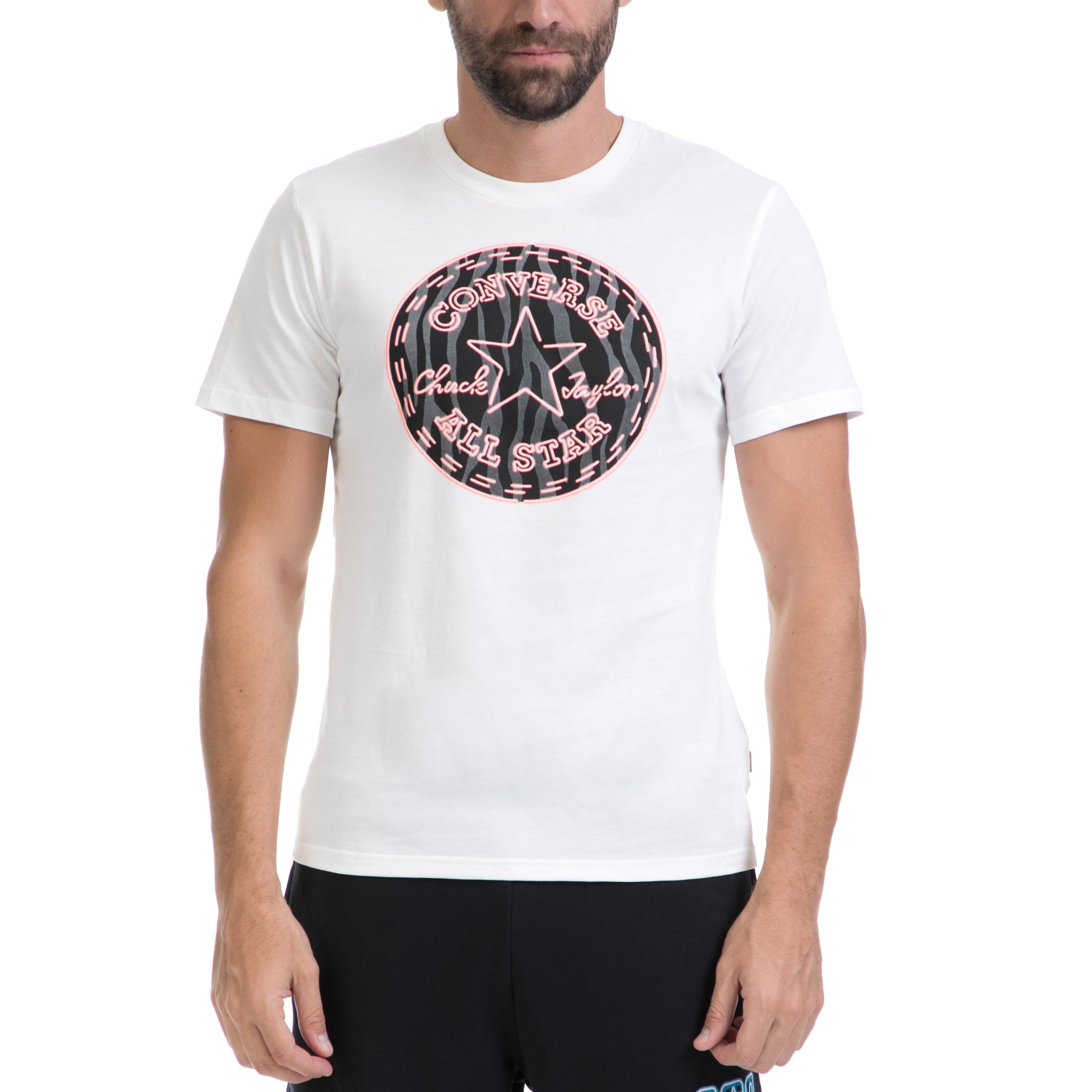 CONVERSE - Αντρική μπλούζα CONVERSE άσπρη ανδρικά ρούχα αθλητικά t shirt
