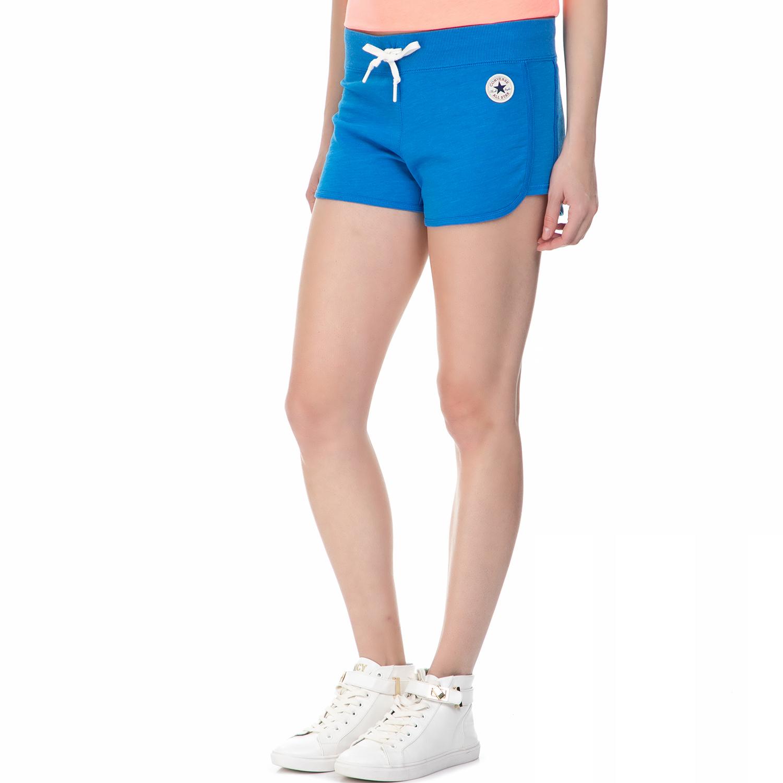 CONVERSE - Γυναικείο αθλητικό σορτς Converse μπλε γυναικεία ρούχα σορτς βερμούδες αθλητικά