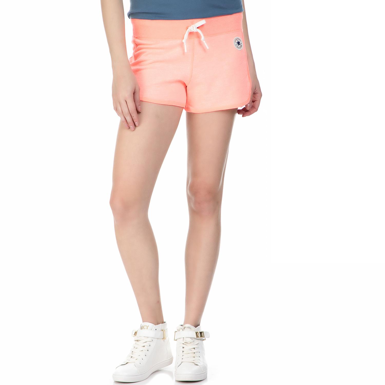 CONVERSE - Γυναικείο αθλητικό σορτς Converse πορτοκαλί γυναικεία ρούχα σορτς βερμούδες αθλητικά