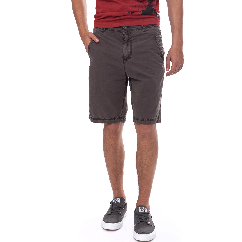 DONDERS - Ανδρική βερμούδα Donders γκρι ανδρικά ρούχα σορτς βερμούδες casual jean