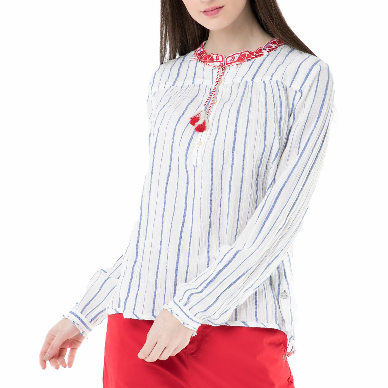 987674da45 SCOTCH   SODA – Γυναικεία πουκαμίσα SCOTCH   SODA λευκή-γαλάζια