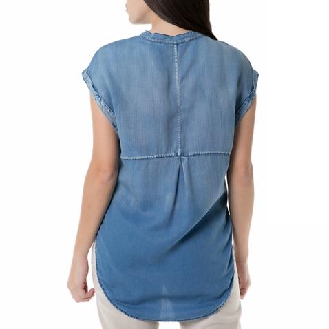 SCOTCH & SODA-Γυναικεία αμάνικη τζιν πουκαμίσα Scotch & Soda μπλε