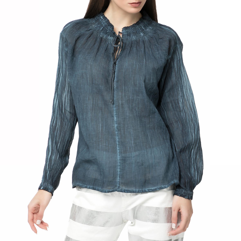 SCOTCH & SODA - Γυναικεία μακρυμάνικη μπλούζα Scotch & Soda Home Alone μπλε γυναικεία ρούχα μπλούζες μακρυμάνικες