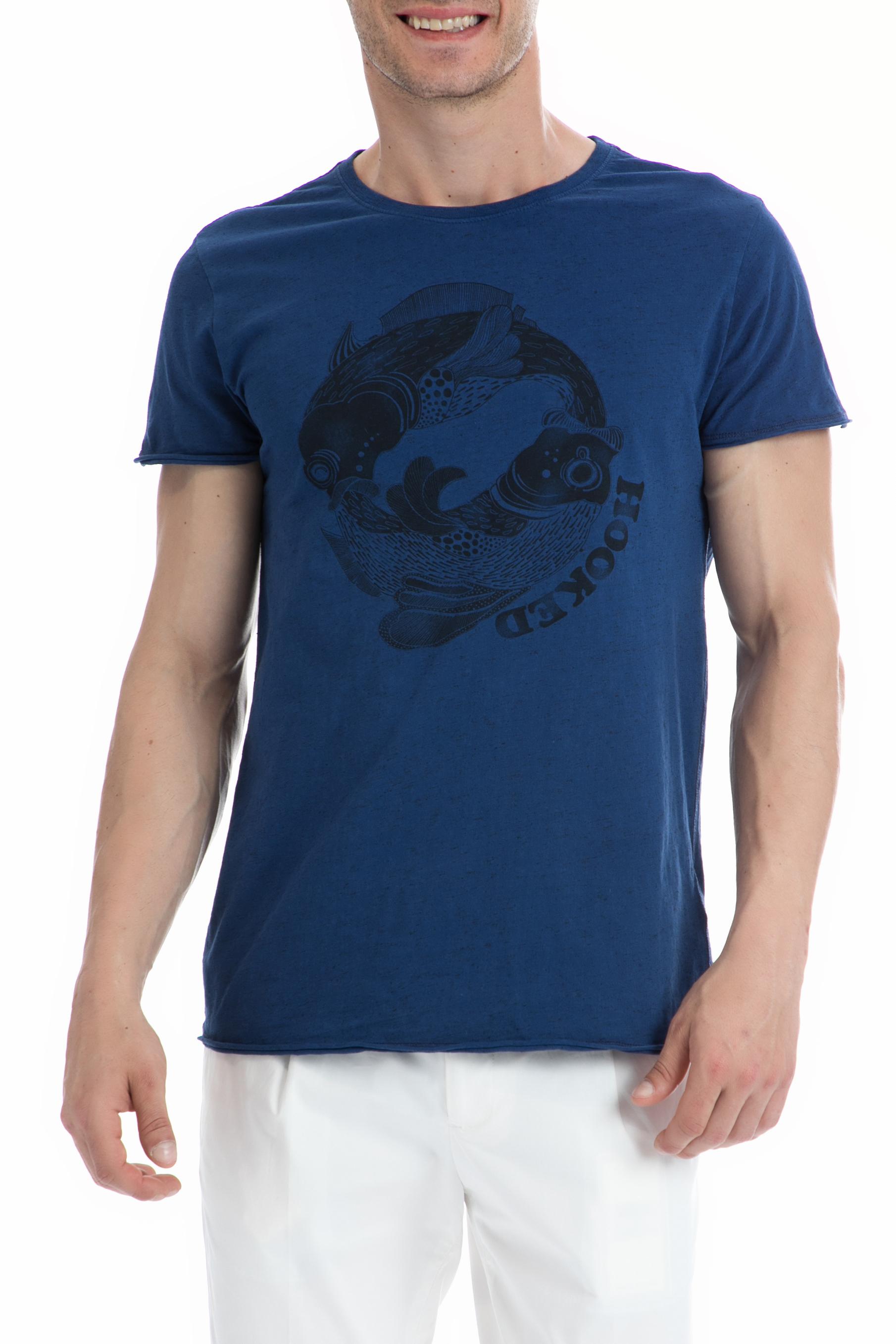 SCOTCH & SODA - Ανδρική μπλούζα SCOTCH & SODA μπλε ανδρικά ρούχα μπλούζες κοντομάνικες