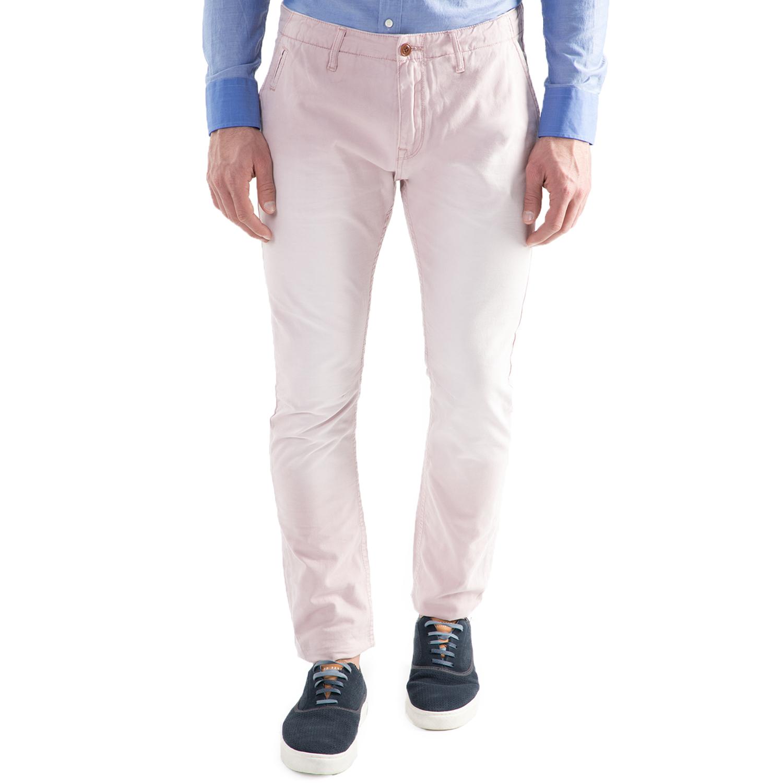 SCOTCH & SODA - Ανδρικό chino ροζ παντελόνι Scotch & Soda Theon chino in garment ανδρικά ρούχα παντελόνια chinos