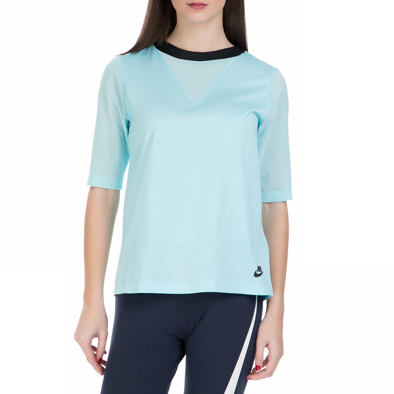 NIKE - Γυναικεία κοντομάνικη μπλούζα Nike γαλάζια γυναικεία ρούχα αθλητικά t shirt τοπ