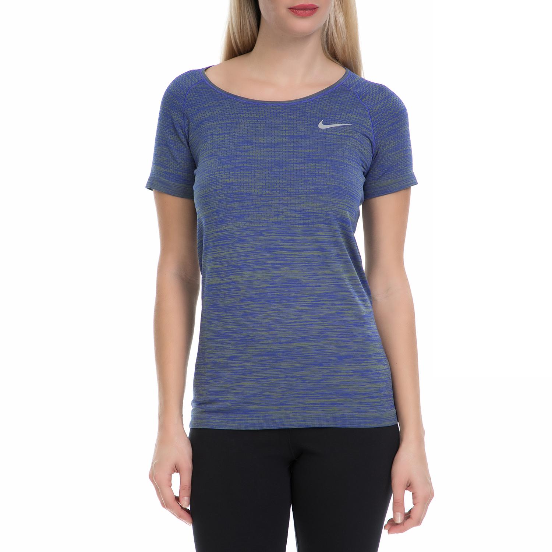 a562a55820 NIKE - Γυναικεία αθλητική μπλούζα NΙKΕ DF KNIT TOP μπλε-πράσινο