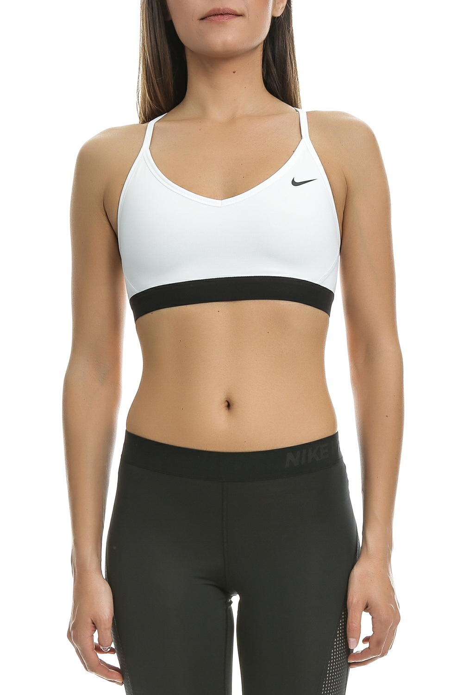 301f40fd4a1a NIKE - Γυναικείο αθλητικό μπουστάκι Nike Favorites λευκό - μαύρο