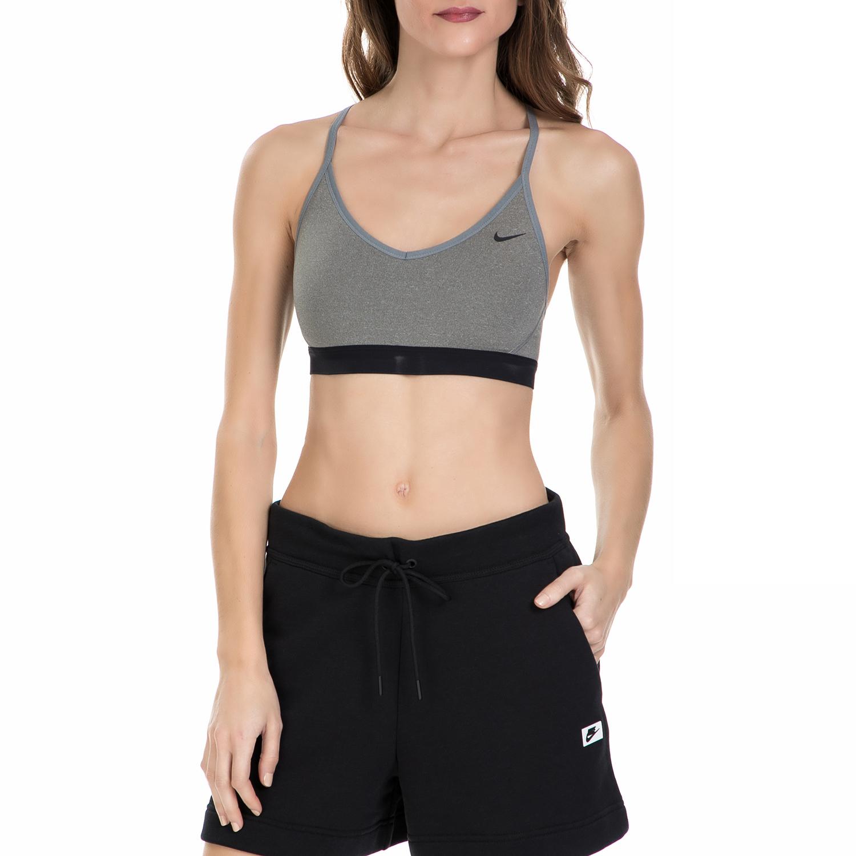 NIKE - Γυναικείο αθλητικό μπουστάκι Nike Favorites γκρι γυναικεία ρούχα αθλητικά μπουστάκια