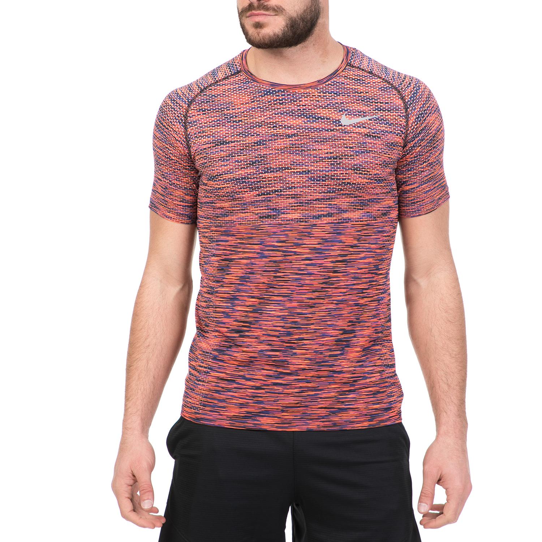 NIKE – Ανδρική αθλητική κοντομάνικη μπλούζα Nike DF KNIT πορτοκαλί-μαύρη  1512932.1-71O5 855b3e0d09c